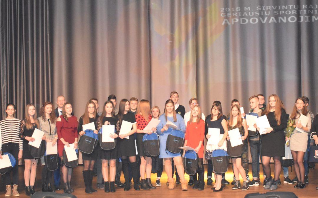 Apdovanoti geriausi 2018 m. Širvintų rajono sportininkai